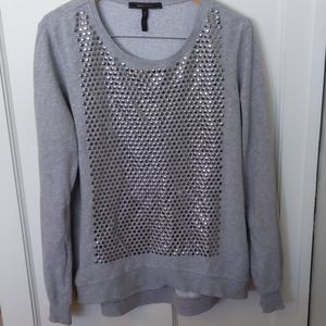 BCBGMaxAzaria sweatshirt, medium, grey